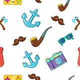 Subculture hipster pattern, cartoon style Royalty Free Stock Photography