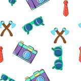 Subculture hipster pattern, cartoon style Stock Images