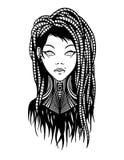Subcultureel meisje met dreadlocks en het doordringen Royalty-vrije Stock Fotografie