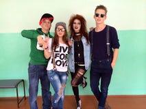 Subcultures in Europe. Differences between teenagers in Ukraine Stock Photo