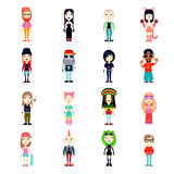Subcultures Icons Set Royalty Free Stock Image