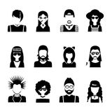 Subcultures People Black And White Royalty Free Stock Photos