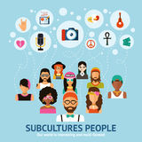 Subcultures People Concept Stock Photos