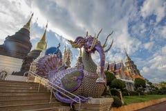 Subdistrict de Inthakhin, Mae Taeng District, Chiang Mai Province, Tailandia septentrional en noviembre 20,2017: Artes y arquitec fotos de archivo libres de regalías