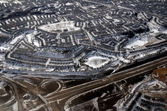Subdivision. Aerial view of a suburban subdivision Stock Photo