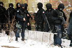 Subdivision anti-terrorist police. Stock Photography