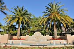 Subdivision Entrance. Garden and fountain at a neighborhood entrance in Florida Stock Image