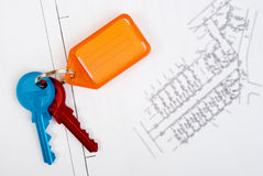 Subdivision Plan and Keys Stock Photography