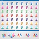 Säubern Sie basiertes Formen ` Leute-Benutzer ` Lizenzfreie Stockfotografie