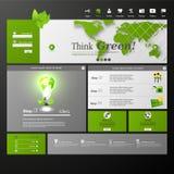 Säubern Sie moderne Websiteschablone Eco Lizenzfreie Stockfotos