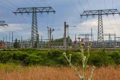 Subestação da central elétrica bombeada Niederwartha do armazenamento fotos de stock