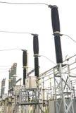 Subestação de alta tensão elétrica Imagens de Stock Royalty Free