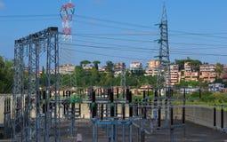 Subestação de Electric Power Imagens de Stock