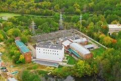 Subestação eléctrica de transformação de Sokolniki imagens de stock royalty free
