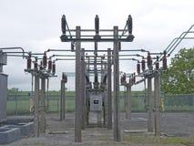 Subestação elétrica Foto de Stock Royalty Free