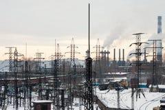 Subestação elétrica Imagem de Stock