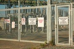 Subestação elétrica Fotografia de Stock