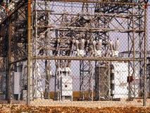 Subestação elétrica Fotos de Stock Royalty Free