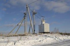 Subestação elétrica da subestação do transformador Imagens de Stock Royalty Free