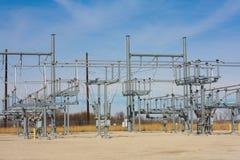 Subestação elétrica no Midwest imagens de stock