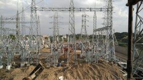 Subestação híbrida elétrica Fotografia de Stock Royalty Free