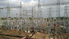 Subestação híbrida elétrica fotografia de stock