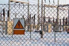Subestación de alto voltaje Imagenes de archivo