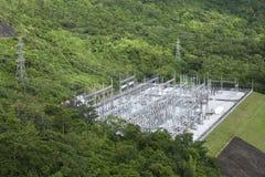 Subestación de alto voltaje Imagen de archivo