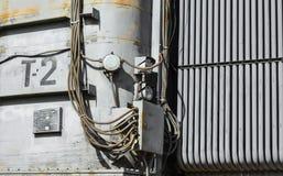 Subestación de alto voltaje eléctrica fotografía de archivo