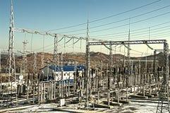 Subestación eléctrica Foto de archivo