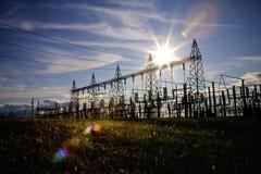 Subestación eléctrica Fotos de archivo