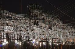 Subestación eléctrica Imagen de archivo