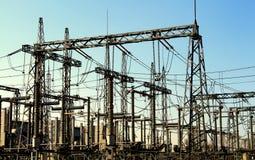 Subestación eléctrica, convertidor de poder Fotografía de archivo