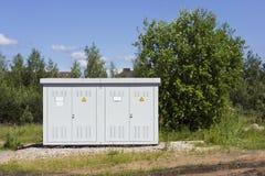 Subestación eléctrica solar Fotografía de archivo libre de regalías