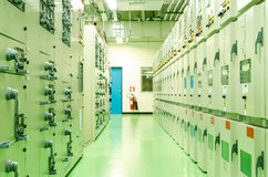 Subestación de la energía eléctrica Imagen de archivo