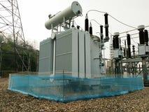 Subestación eléctrica Imagen de archivo libre de regalías