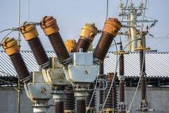 Subestación eléctrica de la transformación Fotografía de archivo