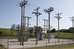 Subestación eléctrica rural Foto de archivo libre de regalías