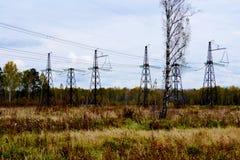 Subestaciones eléctricas Siberia Imagen de archivo