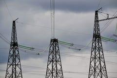 Subestaciones eléctricas Siberia Fotografía de archivo