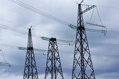 Subestaciones eléctricas Siberia Imágenes de archivo libres de regalías