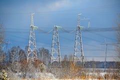 Subestaciones eléctricas Siberia Fotos de archivo libres de regalías