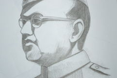 Subhash Chandra Bose photographie stock