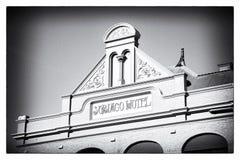 Subiaco Hotel Pediment Stock Images
