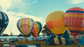 Subida de globos Fotos de archivo