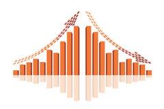 Subida de la demostración del gráfico de beneficios o de ganancias Foto de archivo libre de regalías