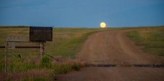 Subida de la luna Fotografía de archivo