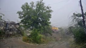 Subida de las aguas del ciclón, almacen de video