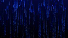 Subida de las partículas del fondo de Internet de la matriz del código binario ilustración del vector