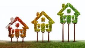 Subida de las propiedades inmobiliarias stock de ilustración